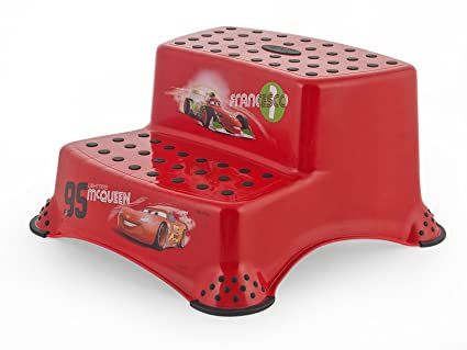 Lulabi sgabello disney cars step 2 gradini rosso: amazon.it