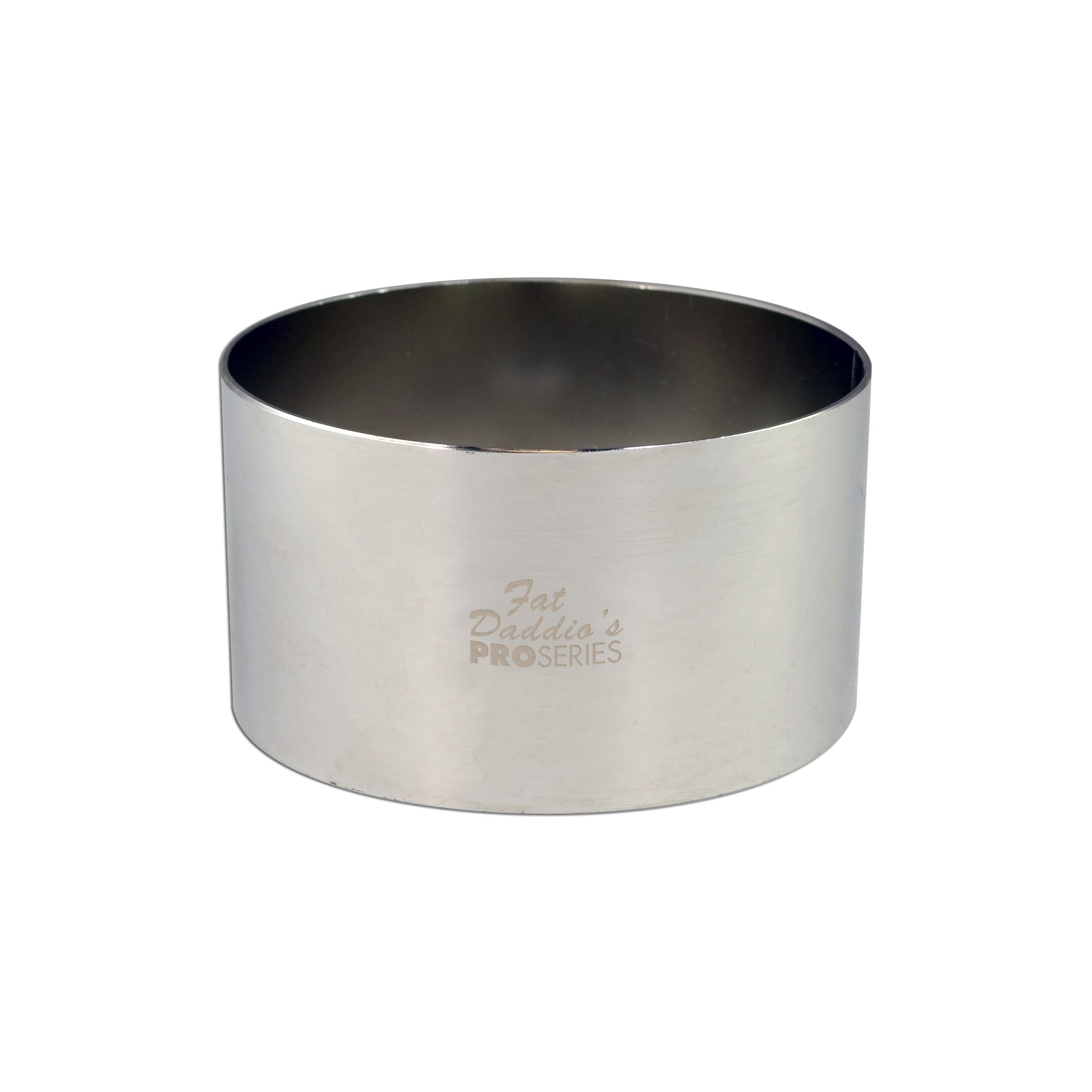 Fat Daddio's Stainless Steel Round Cake & Pastry Ring, 3.5 x 1.75 Inch