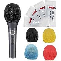 100 piezas Cubierta de micrófono desechable de Cubierta protectora de micrófono de mano no tejida Cubierta de micrófono…