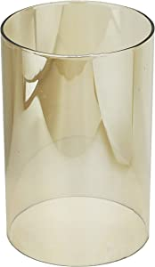 "U-play Cylinder Glass Vase 6"" High 4"" Wide Open End Clear Candle Holders Suitable for Hurricane Glass Candles of Any Size (3.2/3.5/4/4.3/4.7 Inch)"