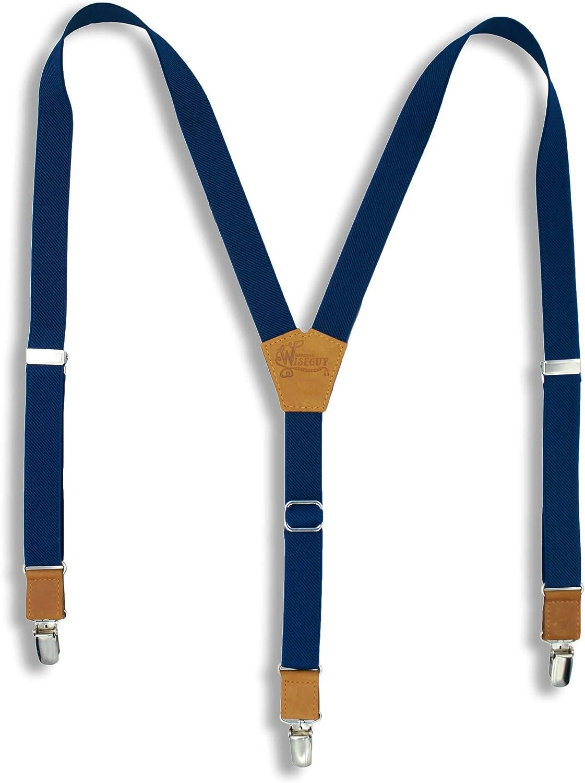 Tirantes el/ásticos ajustables en forma de Y para hombre de 2,54 cm Azul azul real Talla /única