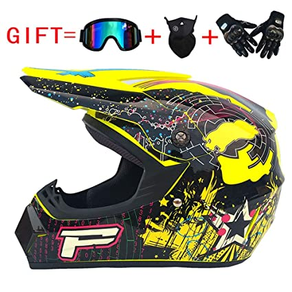 Adulto Motocross Casco MX Moto Casco ATV Scooter ATV Casco Carretera Carrera D. O. T Certificado Rockstar