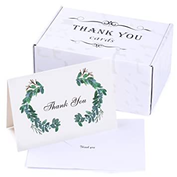 Amazon Com 50 Thank You Cards Bulk Thank You Notes Blank Note