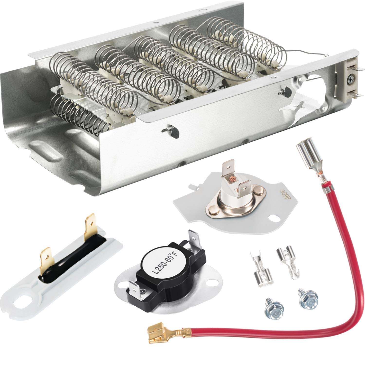 Dryer Replacement Kit Compatible with Kenmore Dryer, Including Heating Element 279838, Thermal Fuse 3392519 and Thermostat 279816