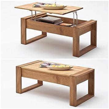 Wunderbar Moebella® Couchtisch Victor Höhenverstellbar Massiv Holz Asteiche Mit  Lift Funktion Wohnzimmer Tisch