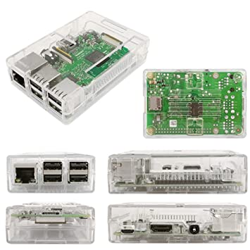 Amazon.com: keyestudio Raspberry Pi Enclosure Caja de Caso ...