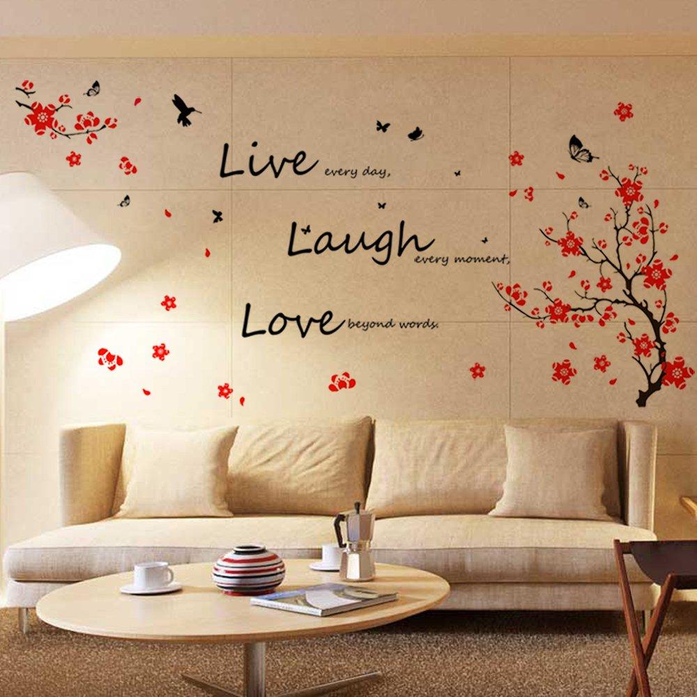 walplus - adesivi da parete per stanza dei bambini con scritte ... - Stickers Per Camera Da Letto