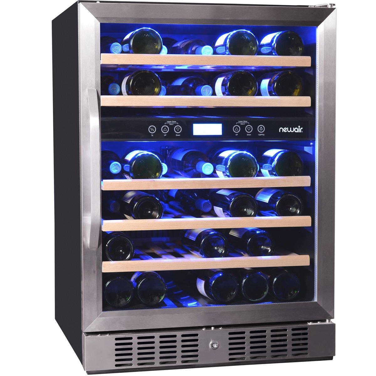 NewAir AWR-460DB Dual Zone 46 Bottle Wine Cooler