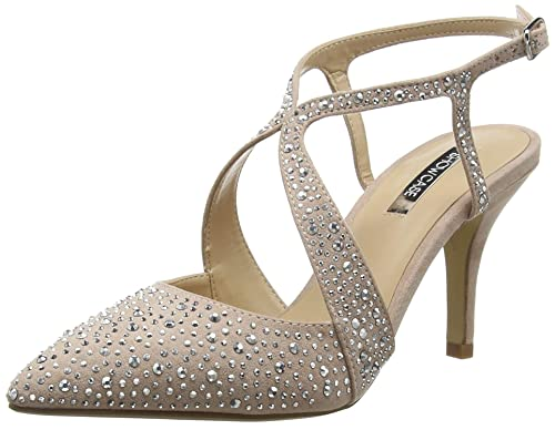 a29a27ae6f Dorothy Perkins Women's Diamonte Shoes Closed Toe Heels, Beige (Nude 170), 3