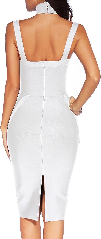 Womens Bandage Dress Halter Spaghetti Strap Bodycon Party Club Dress