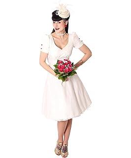 a8e4666fd0e383 SugarShock Damen Rockabilly Schößchen Brautkleid 147770775: Amazon ...