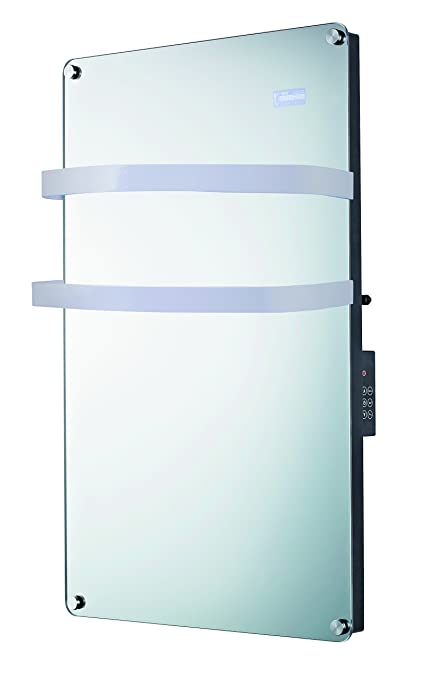 Drexon 939750 - Toallero radiador de espejo con termostato electrónico, 1.500 W