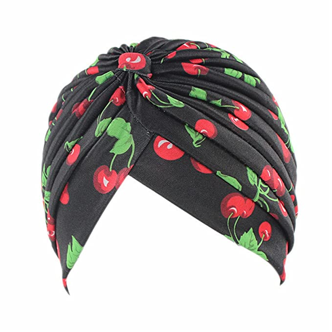 e3253e2e574 qhome women s new fashion rasta turban indian style head wrap cap hat hair  cover headband various print design  Amazon.in  Clothing   Accessories