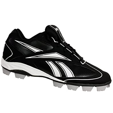 799390d4c3e Image Unavailable. Image not available for. Color  Reebok 269709 VERO FL III  Low MRT Mens Baseball Cleats Black White ...