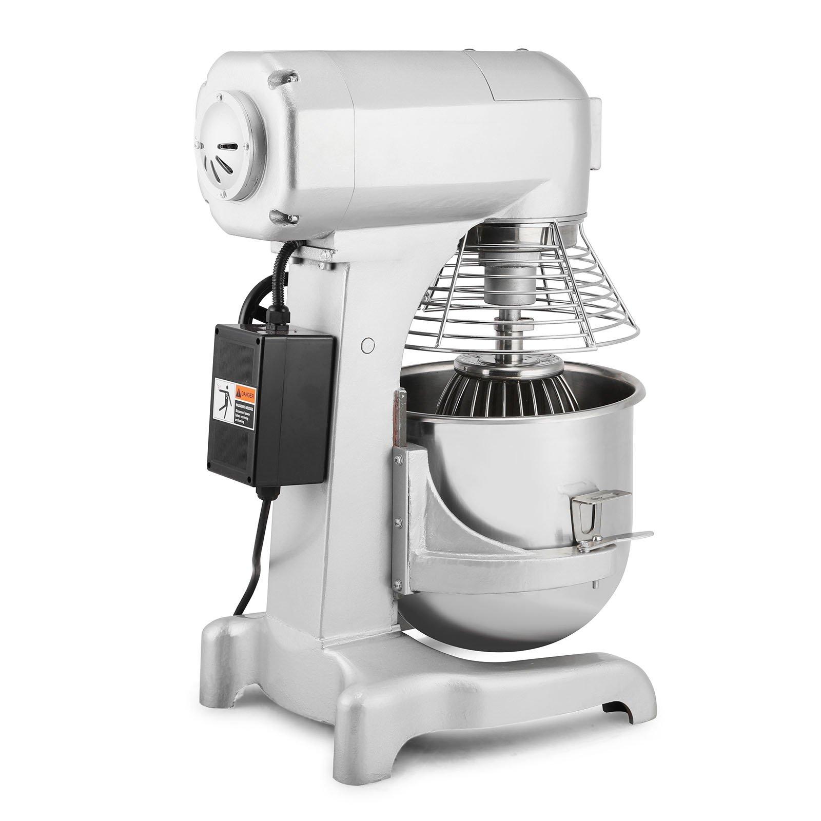 Happybuy Commercial Food Mixer 750W Dough Mixer Maker 3 Speeds Adjustable Commercial Mixer Grinder 94/165/386 RPM Stand Mixer (20 qt) by Happybuy (Image #2)