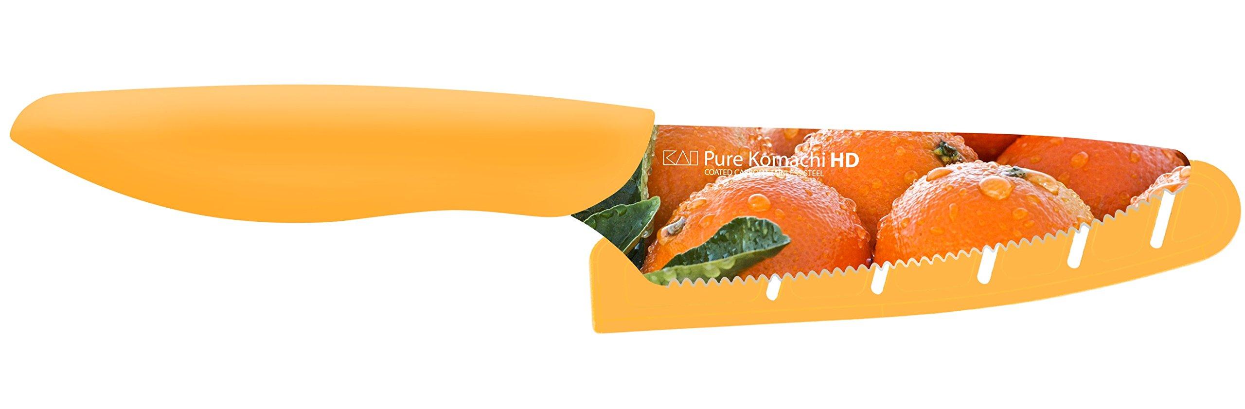 Kai USA Pure Komachi 2 AB9076 HD Photo Citrus Knife, 4-Inch, Oranges