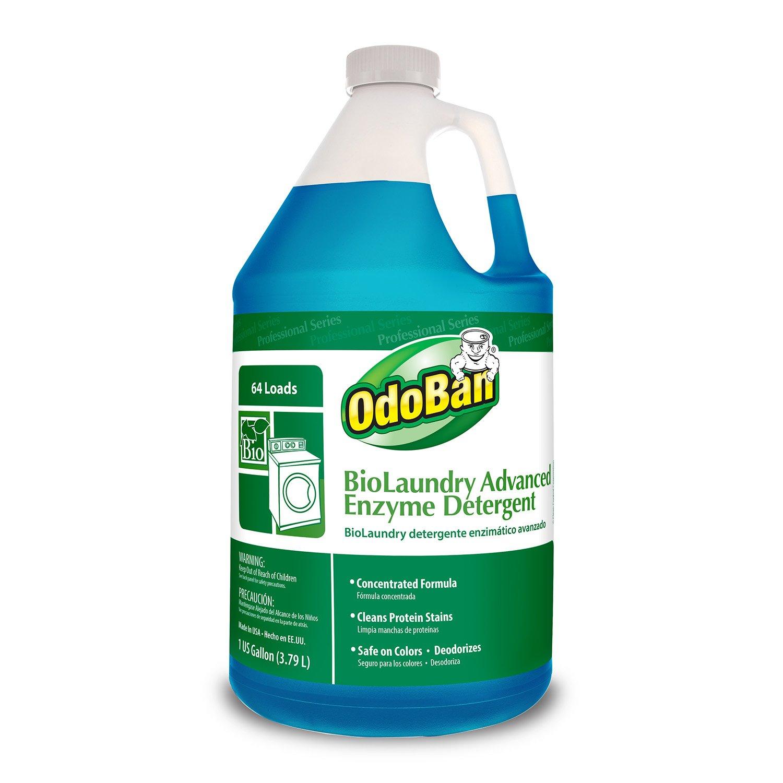 OdoBan 968262-G BioLaundry Advanced Enzyme Detergent, 1 Gallon Bottle by OdoBan
