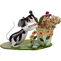 Wonderland Decorative Garden Dog with Pot/Planter : Home Decor, Gift Item