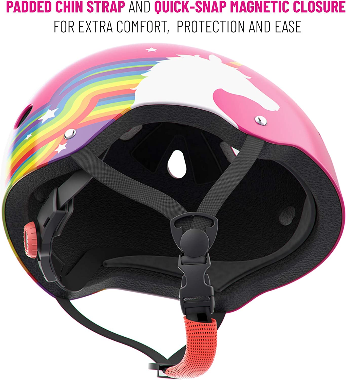 Rainbow Unicorn helmet kids skateboard bike scooter skate safety helmet 48-52cm