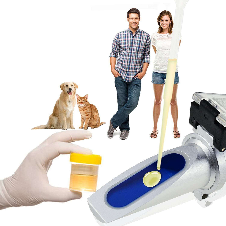para veterinario perro gato Refract/ómetro cl/ínico ATC Gravedad espec/ífica para orina SG 1.000-1.060