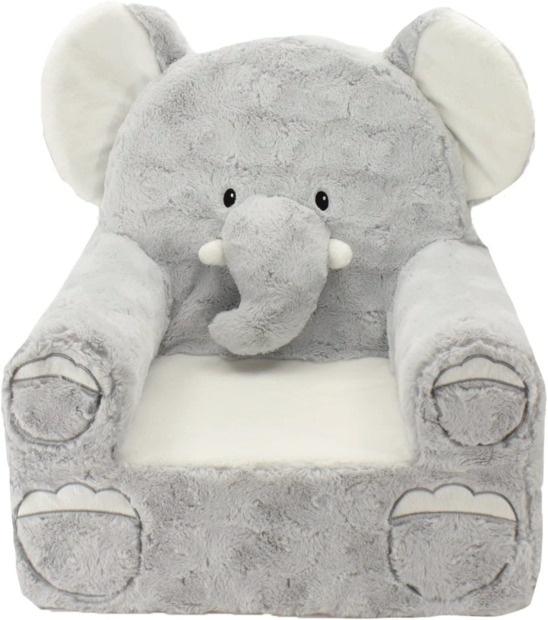 Amazon Com Animal Adventure Sweet Seats Grey Elephant Children S Plush Chair Toys Games