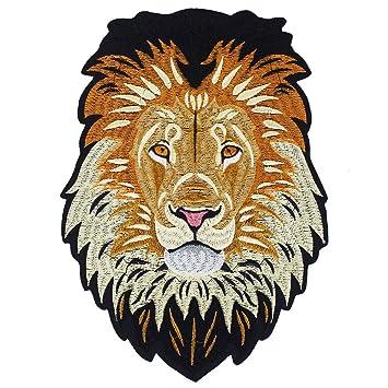 EMDOMO Parches de Hierro en la Parte Trasera Bordados león para reparación de Ropa Pegatina Accesorios de Costura 1 Pieza: Amazon.es: Hogar