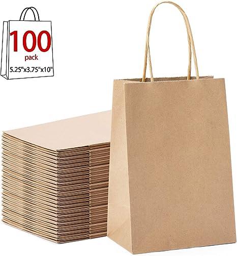 Amazon.com: Halulu(TM) bolsa de papel Kraft con manija ...