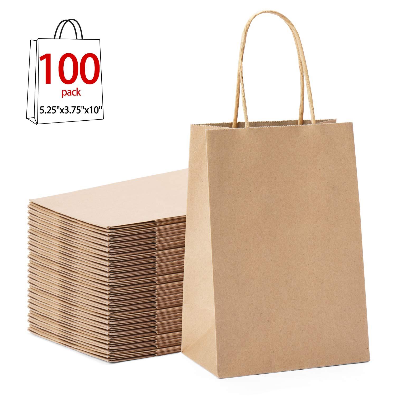 e980f4e0b4 Amazon.com : GSSUSA 100pcs Brown Kraft Paper Bags 5.25