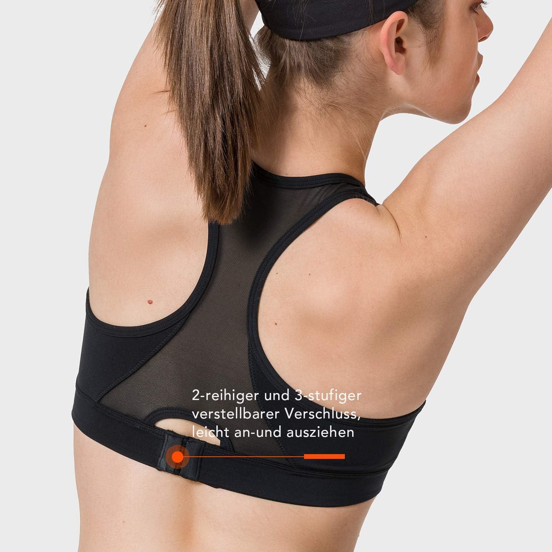Yvette Sculpt Series Damen Sport BH Starker Halt Mesh Ringerr/ücken ohne B/ügel Bustier f/ür Fitness Gym Lauf Yoga
