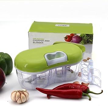 Picadora manual de alimentos: compacto y potente Hand Held Vegetal Chopper/picadora batidora de