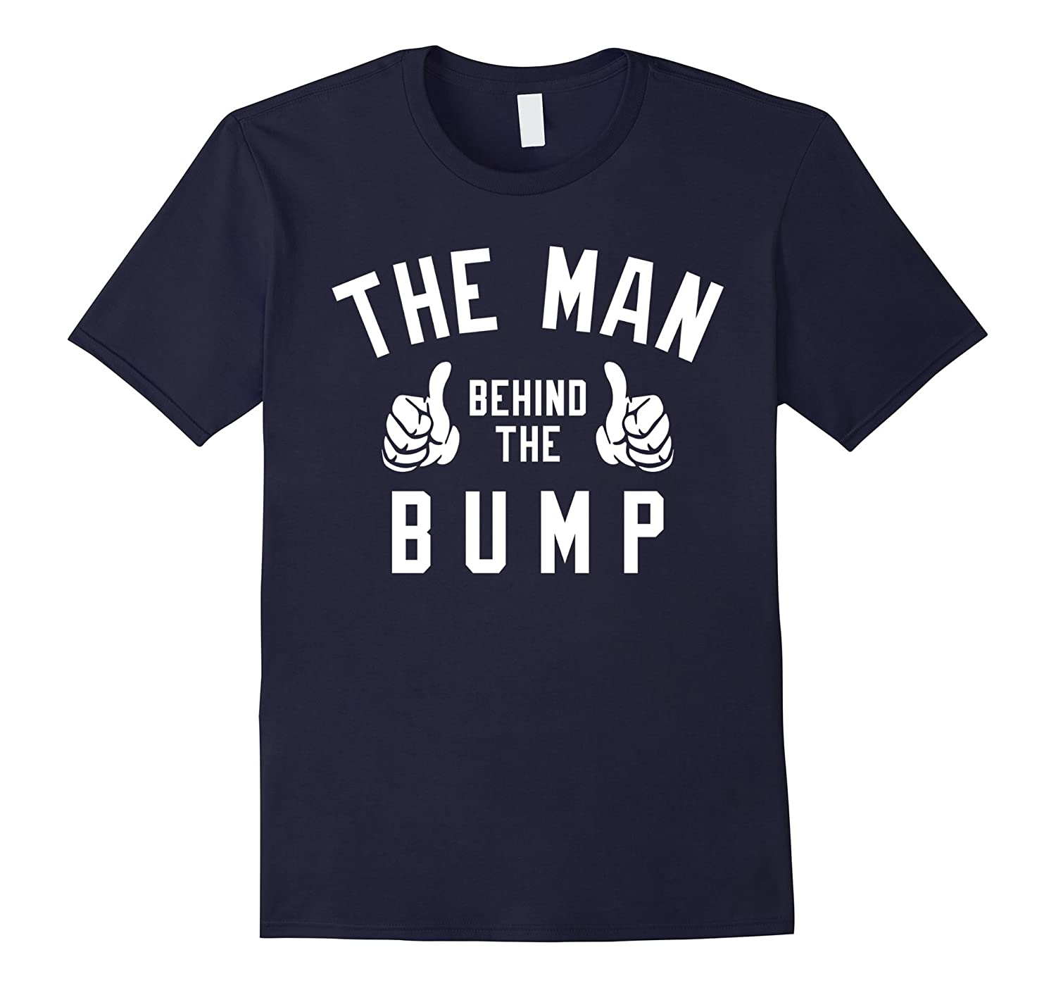 Mens The Man Behind The Bump Mens T-Shirt - New Father Pregnancy-TH