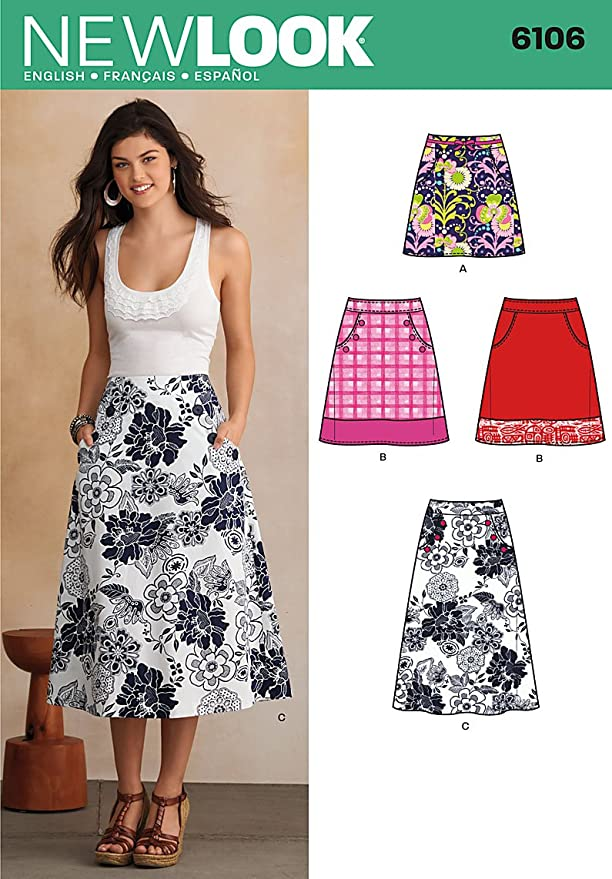 New Look NL6106 - Patrón de costura para falda (22 x 15 cm ...