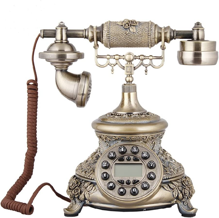 TelPal Corded Classic Antique Vintage Old Fashion Telephone for Home Office Decoration