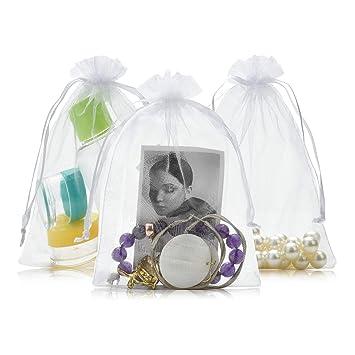 Amazon.com: SHEING 100 bolsas de organza transparentes para ...