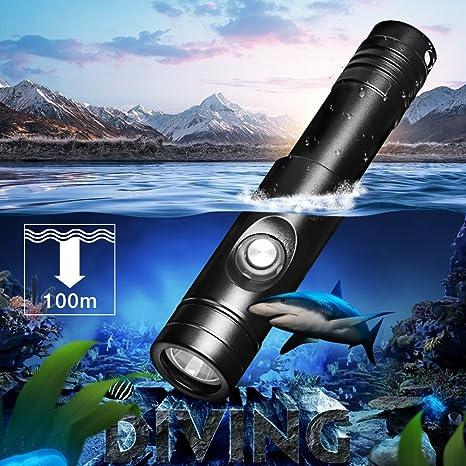 Odepro WD12 Foco Subacuático Recargable 1050 Lumens, Linterna de ...