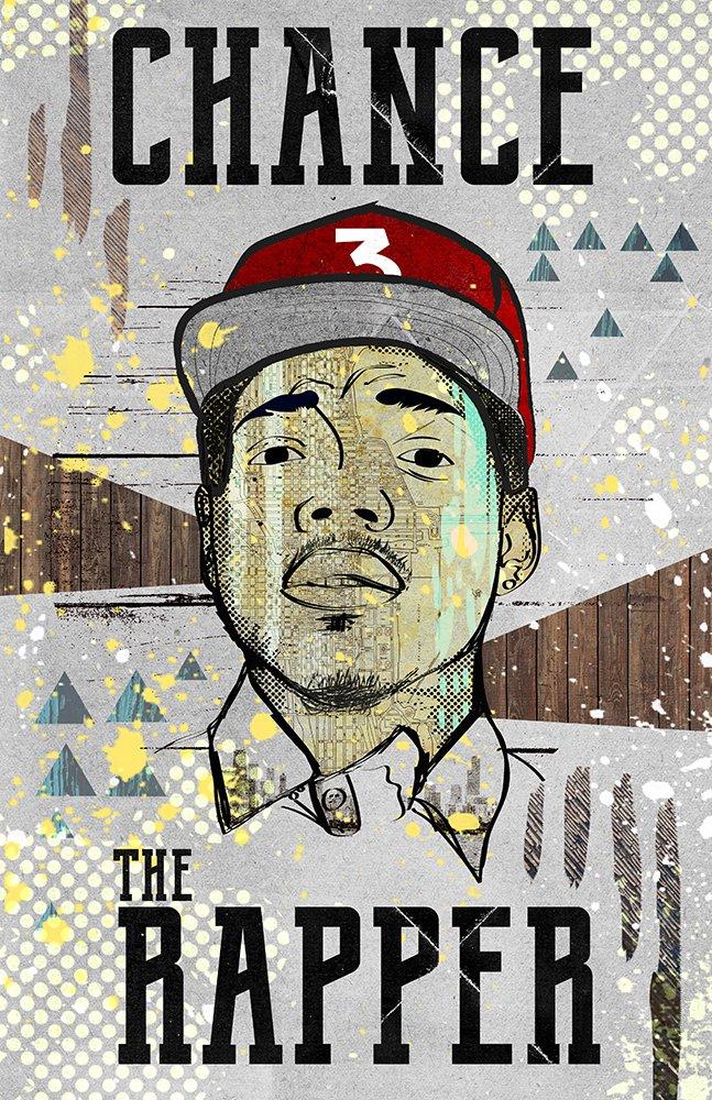 b95895d10a40a Amazon.com  Chance the Rapper Poster Hip Hop Art Modern Design Pop Art   Handmade
