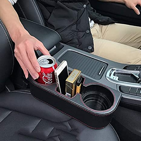 Custom Accessories 91125 Black Seat Wedge Cup Holder