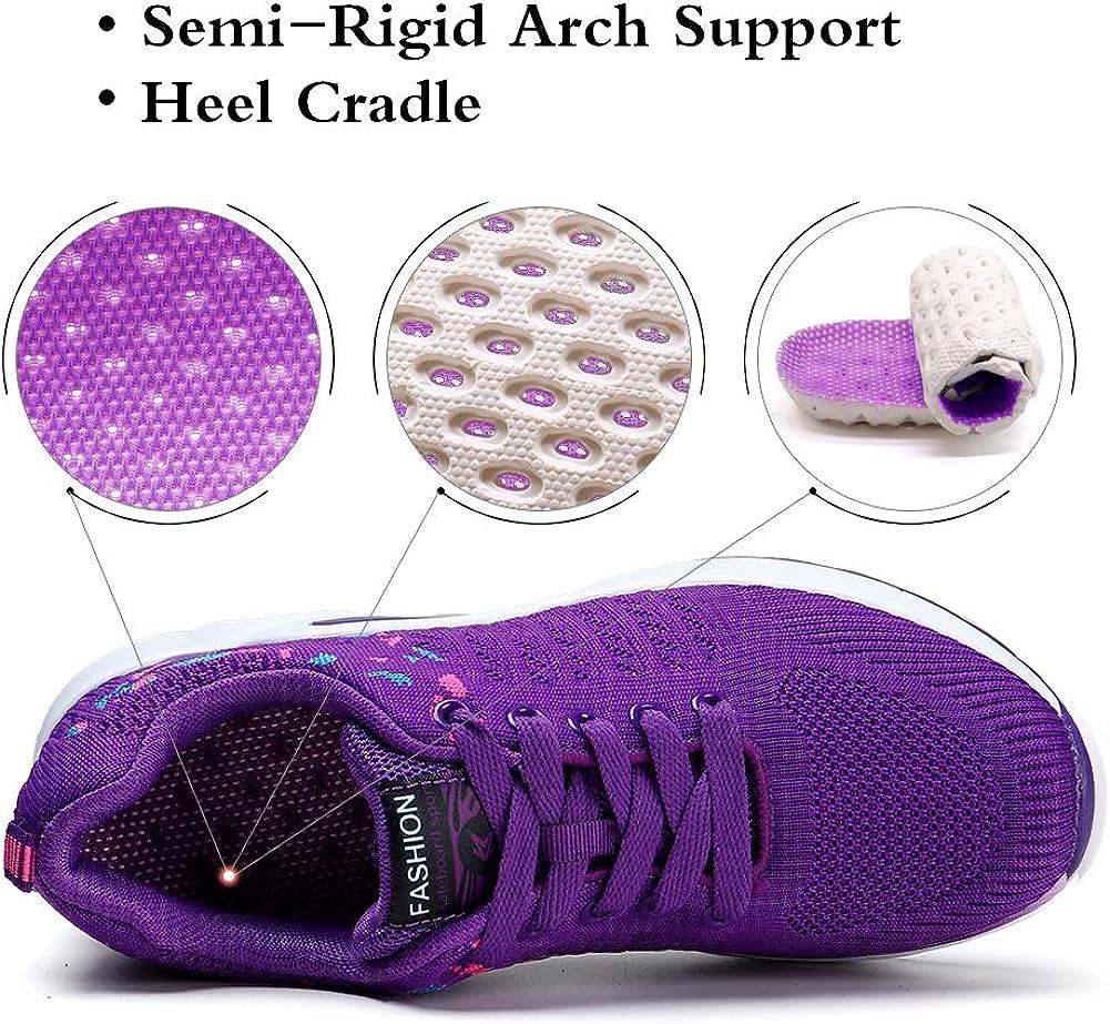 transpirables c/ómodas de malla ligera con plataforma STQ Zapatillas de senderismo para mujer