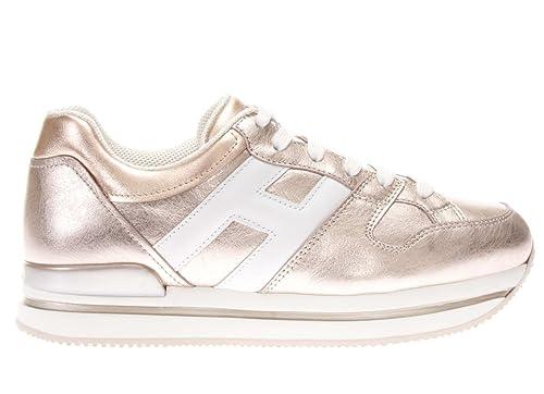 Barato 2018 Entrega Rápida En Línea Hogan Donna Sneakers H222 in Pelle Metallizzata MOD. HXW2220T548I8G089A Rosa e Bianco 35½ 779liWX