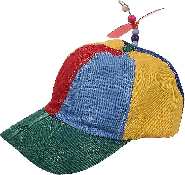 Fancy Adjustable Propeller Beanie Ball Cap Hat Multi-Color Clown Costume Acces