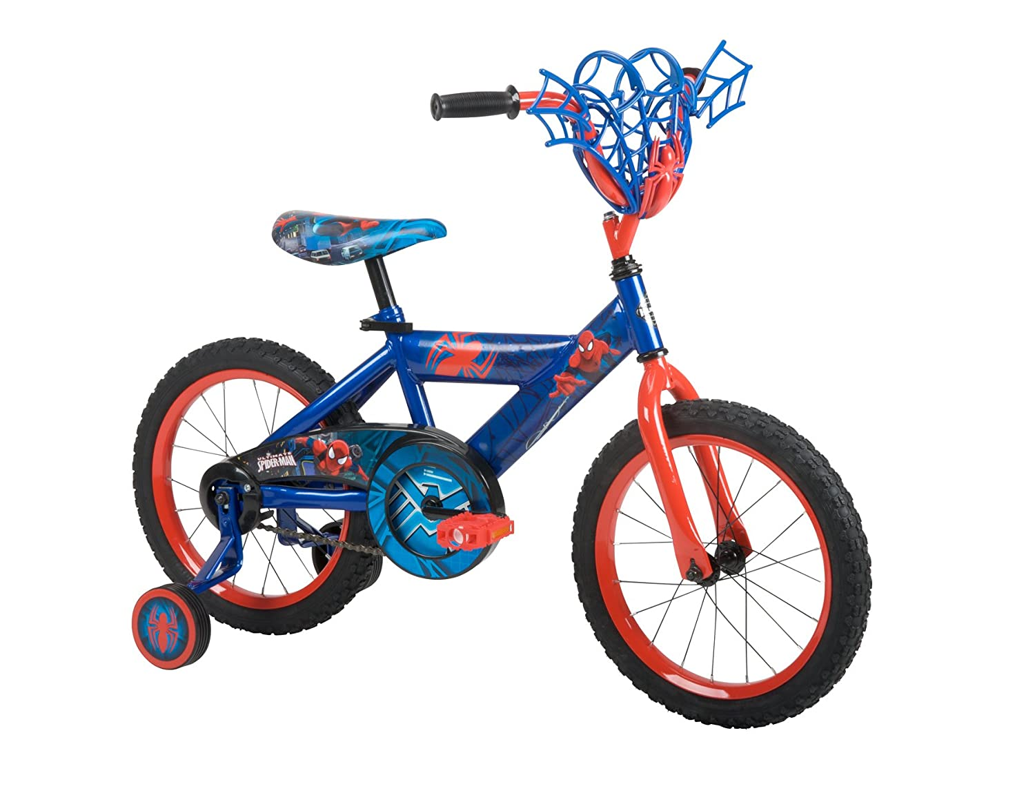 Huffy Bicycle Company Number 21965 Marvel Spider-Man Bike, Metallic Blue/Web Red, 16-Inch B00R4EH4UO