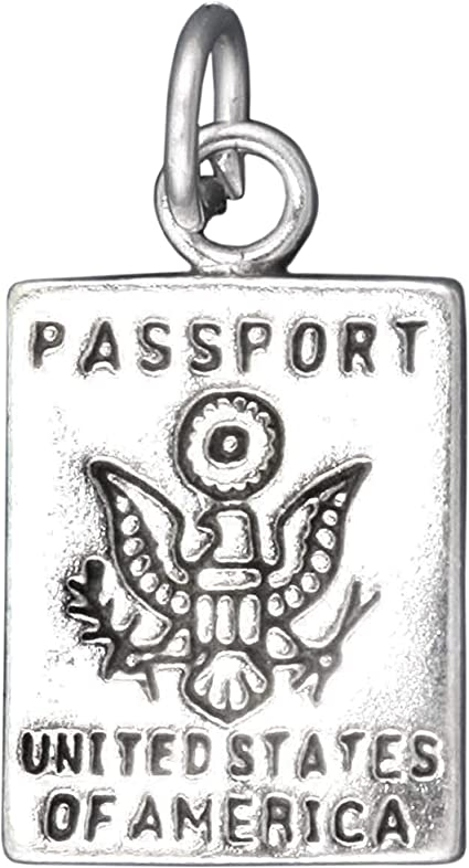 925 Sterling Silver United States Passport Charm Made in America