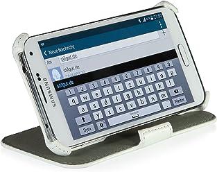 StilGut UltraSlim Case V2, custodia con funzione di supporto per Samsung Galaxy S5 & S5 Neo, bianco vintage