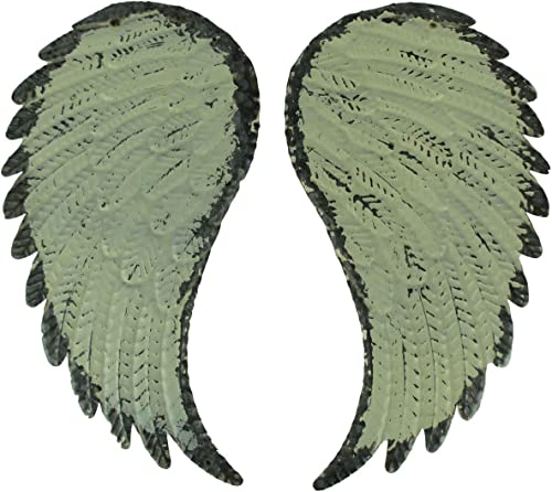 PD Home Garden Rustic Galvanized Metal Angel Wings Wall Decor Set
