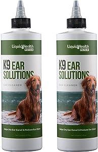 Liquid Health for Animals K9 Ear Solutions 12 oz Liquid (2-Pack)