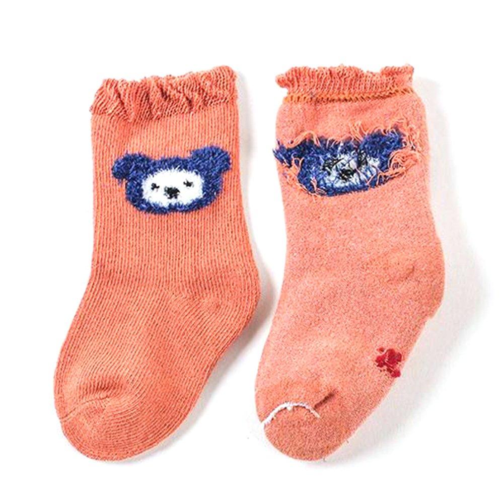 5 Pairs//Set Lovely Bear Soft Comfortable Cotton Socks Unisex Breathable Cartoon Warm Baby Socks
