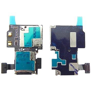 Samsung Galaxy S4 i9505 LTE lector de tarjeta SIM y microSD Slot Premium Card Reader Soporte contactos – TOKA-VERSAND de envío ®