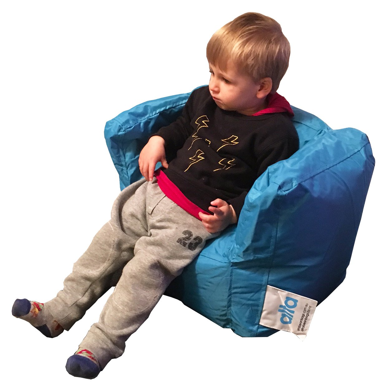 "Alta Lil Boss Bean Bag Chair for Toddlers, Babies and Young Kids (COVER ONLY) Made Stain and Water Resistant for Indoor and Outdoor Use. 17.71"" x 21.65"" Aqua by Alta"