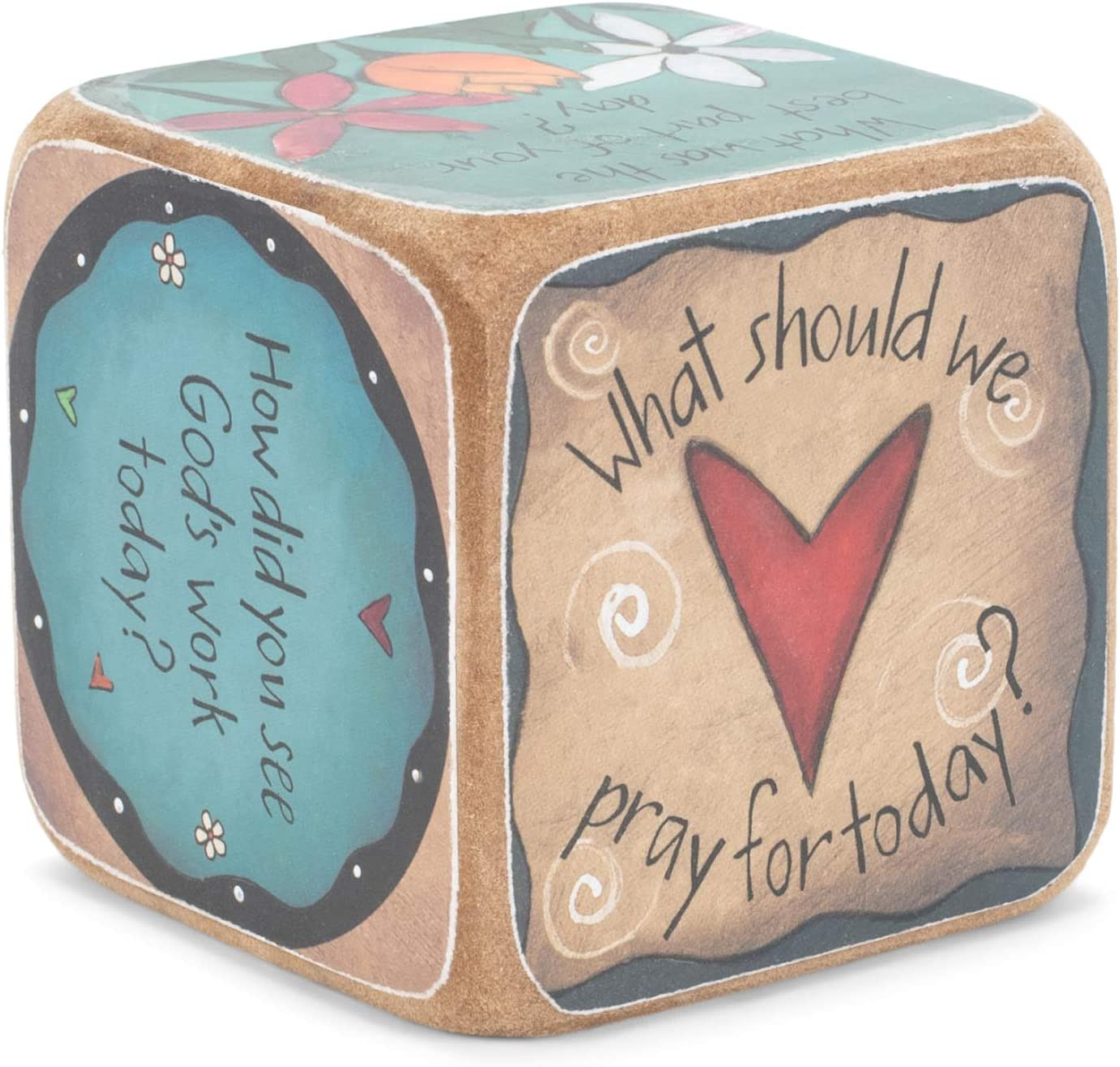 DEMDACO Table Talk Sweet Table Prayer Conversation Dice 3 in Square