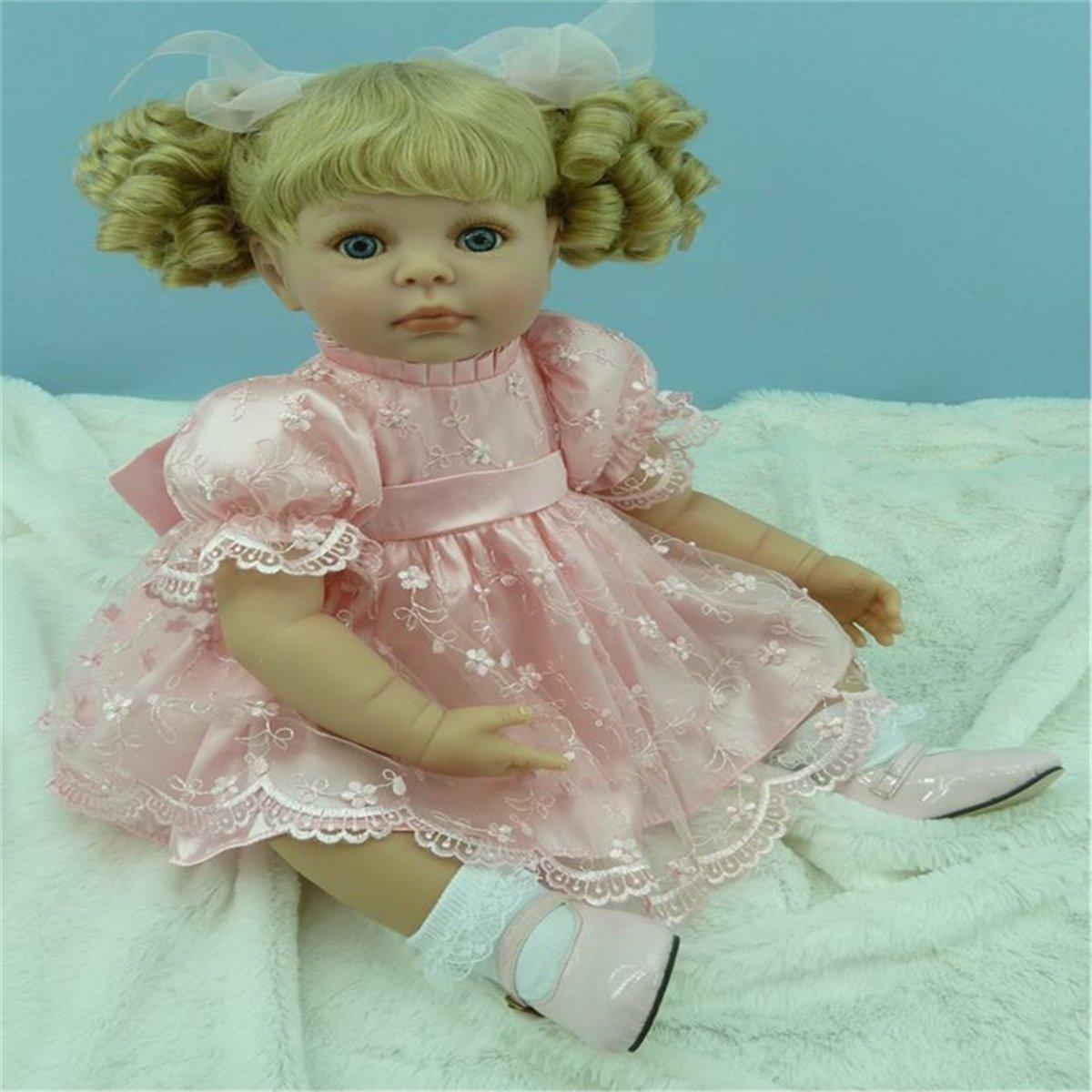 Fachel reborn baby doll baby - puppen realistisch vinyl silikon babys 50cm 20inch schönes kleid puppe kindergeburtstag geschenk weihnachtsgeschenk B01FHQF80S Babypuppen Moderner Modus | Schön In Der Farbe